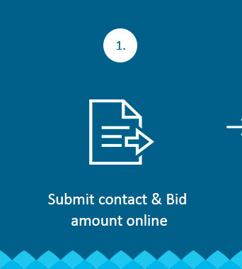 Submit contact & Bid amount online